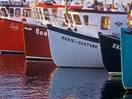 Lobster fishing boats