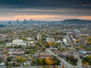 Panoramic view from the Montreal Tower - Olympic Park