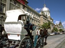 Horse-drawn carriage in Old Montréal
