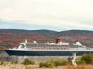 Queen Mary 2 in Gaspé bay in the fall
